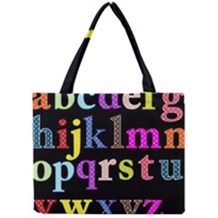 Alphabet Letters Colorful Polka Dots Letters In Lower Case Mini Tote Bag