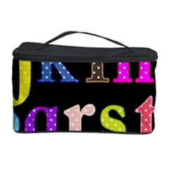 Alphabet Letters Colorful Polka Dots Letters In Lower Case Cosmetic Storage Case