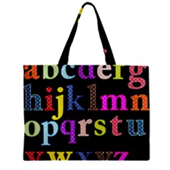 Alphabet Letters Colorful Polka Dots Letters In Lower Case Zipper Mini Tote Bag