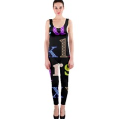 Alphabet Letters Colorful Polka Dots Letters In Lower Case OnePiece Catsuit