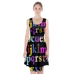 Alphabet Letters Colorful Polka Dots Letters In Lower Case Racerback Midi Dress