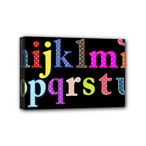 Alphabet Letters Colorful Polka Dots Letters In Lower Case Mini Canvas 6  X 4