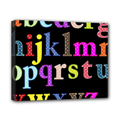 Alphabet Letters Colorful Polka Dots Letters In Lower Case Canvas 10  X 8