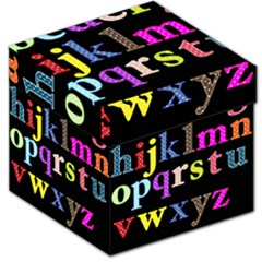 Alphabet Letters Colorful Polka Dots Letters In Lower Case Storage Stool 12