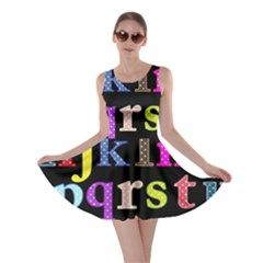 Alphabet Letters Colorful Polka Dots Letters In Lower Case Skater Dress