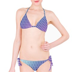 Abstract Lines Background Bikini Set