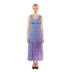 Abstract Lines Background Sleeveless Maxi Dress