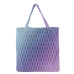 Abstract Lines Background Grocery Tote Bag