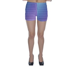 Abstract Lines Background Skinny Shorts