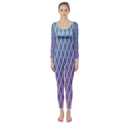 Abstract Lines Background Long Sleeve Catsuit