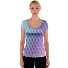 Abstract Lines Background Women s V-Neck Cap Sleeve Top