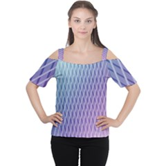 Abstract Lines Background Women s Cutout Shoulder Tee