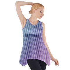 Abstract Lines Background Side Drop Tank Tunic