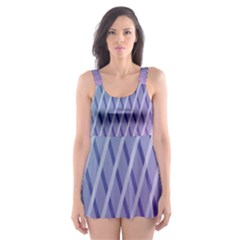 Abstract Lines Background Skater Dress Swimsuit