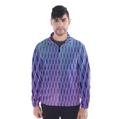 Abstract Lines Background Wind Breaker (Men)
