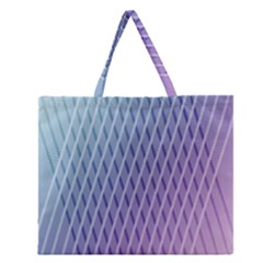 Abstract Lines Background Zipper Large Tote Bag