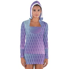 Abstract Lines Background Women s Long Sleeve Hooded T Shirt