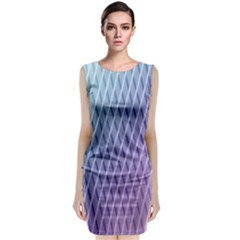 Abstract Lines Background Classic Sleeveless Midi Dress