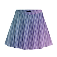 Abstract Lines Background Mini Flare Skirt
