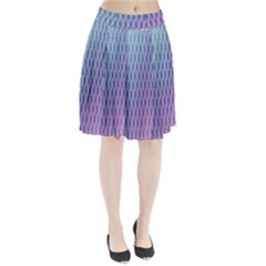 Abstract Lines Background Pleated Skirt