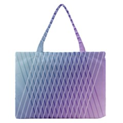 Abstract Lines Background Medium Zipper Tote Bag