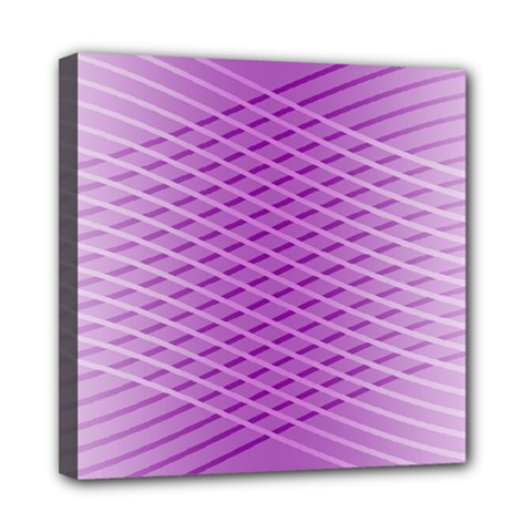 Abstract Lines Background Pattern Mini Canvas 8  X 8