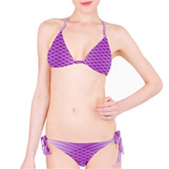 Abstract Lines Background Pattern Bikini Set