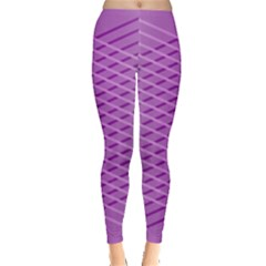 Abstract Lines Background Pattern Leggings