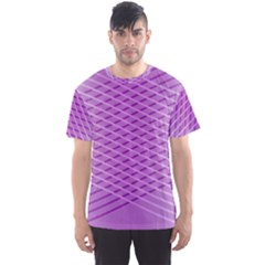 Abstract Lines Background Pattern Men s Sport Mesh Tee