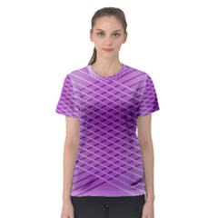Abstract Lines Background Pattern Women s Sport Mesh Tee