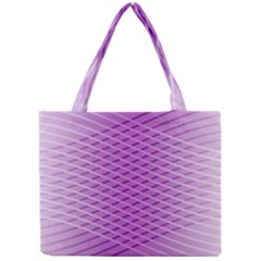 Abstract Lines Background Pattern Mini Tote Bag