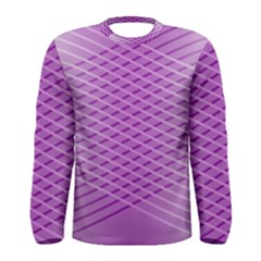 Abstract Lines Background Pattern Men s Long Sleeve Tee