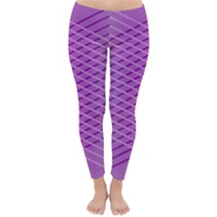 Abstract Lines Background Pattern Classic Winter Leggings