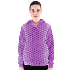 Abstract Lines Background Pattern Women s Zipper Hoodie