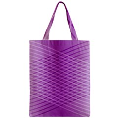 Abstract Lines Background Pattern Zipper Classic Tote Bag
