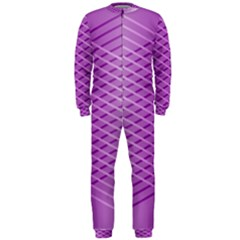 Abstract Lines Background Pattern Onepiece Jumpsuit (men)