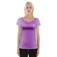 Abstract Lines Background Pattern Women s Cap Sleeve Top