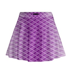 Abstract Lines Background Pattern Mini Flare Skirt