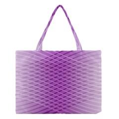 Abstract Lines Background Pattern Medium Tote Bag