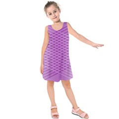Abstract Lines Background Pattern Kids  Sleeveless Dress