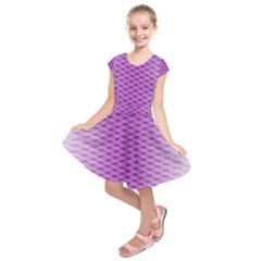 Abstract Lines Background Pattern Kids  Short Sleeve Dress