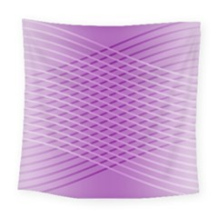Abstract Lines Background Pattern Square Tapestry (large)