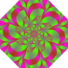 Green And Pink Fractal Straight Umbrellas