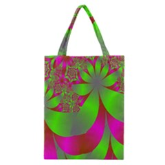 Green And Pink Fractal Classic Tote Bag