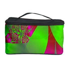 Green And Pink Fractal Cosmetic Storage Case