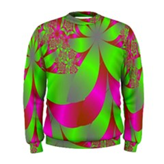 Green And Pink Fractal Men s Sweatshirt