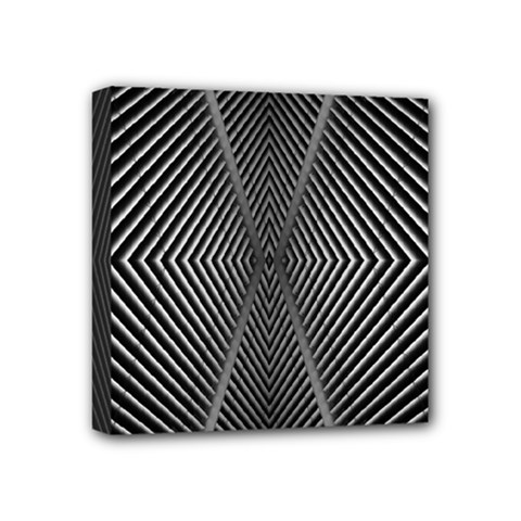Abstract Of Shutter Lines Mini Canvas 4  X 4