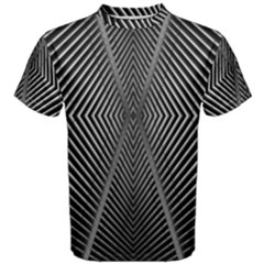Abstract Of Shutter Lines Men s Cotton Tee