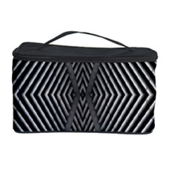Abstract Of Shutter Lines Cosmetic Storage Case