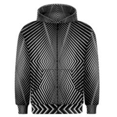 Abstract Of Shutter Lines Men s Zipper Hoodie